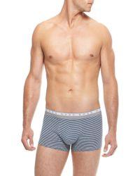 Hugo Boss Boxer Stripes  Stretch Cotton Striped Trunk - Lyst