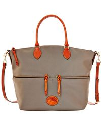 Dooney & Bourke Large Pocket Satchel Bag - Lyst