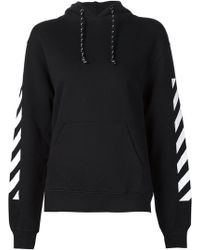 Off-White c/o Virgil Abloh Striped Print Sweatshirt - Lyst