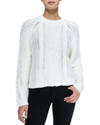3.1 Phillip Lim Mixed Cable Wool Pullover - Lyst