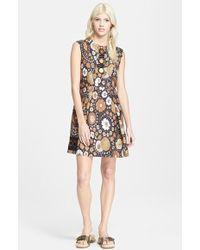 Marc Jacobs Women'S Sleeveless Floral Print Silk Twill Dress - Lyst