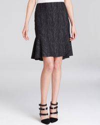 Elie Tahari Bonnie Tweed Print Skirt - Lyst