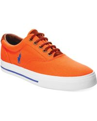Polo Ralph Lauren Vaughn Canvas and Leather Sneakers - Lyst