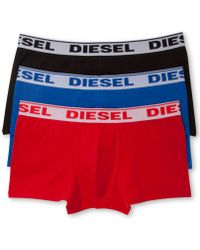 Diesel Mens Fresh Bright Cotton Stretch Shawn Trunk 3 Pack - Lyst
