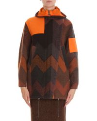 Missoni Oversized Zigzag Coat - Lyst