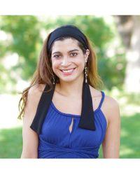 Elizabeth Koh - Solid Black Headband With Tassels - Lyst