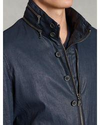 John Varvatos Blue Hooded Jacket - Lyst