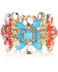 River Island Multicoloured Flower Stretch Bracelet - Lyst