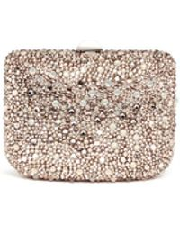 Rodo Crystal Pavé Box Clutch - Lyst