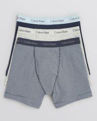 Calvin Klein Stretch Boxer Briefs, Pack Of 3 - Lyst