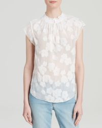 Rebecca Taylor Top - Sheer Floral - Lyst