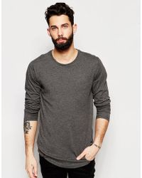 Only & Sons | Longline Long Sleeve Top | Lyst
