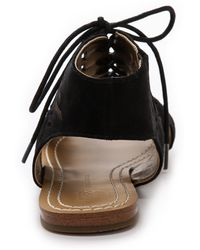 Twelfth Street Cynthia Vincent - Winima Laser Cut Sandals Black - Lyst