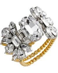 Mews London - Medium Crystal Chain Bracelet - Lyst