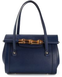 Gucci Bamboo Detail Tote - Lyst