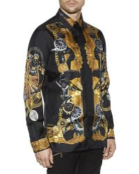 Versace Watch and Car Printed Shirt - Lyst