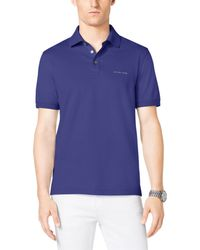 Michael Kors Cotton-Pique Polo Shirt - Lyst