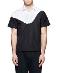 Neil Barrett Bicolour Cotton Shirt - Lyst