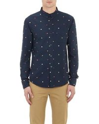 Band of Outsiders Embroidered Oxford Shirt - Lyst