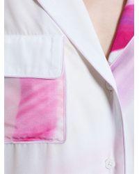 Adam Selman - Crepe Pyjama Shirt - Lyst