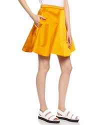 Acne Studios Kanda Shine Skirt - Curry Orange - Lyst