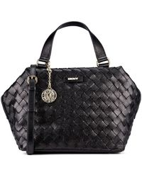 DKNY Woven Leather Top Handle Satchel - Lyst