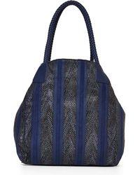 Big Buddha Blue Kay Chevron Stripe Tote - Lyst