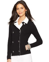 Ralph Lauren Double-Breasted Sweater Jacket - Lyst