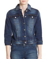 Kensie - Three-quarter Sleeve Denim Jacket - Lyst
