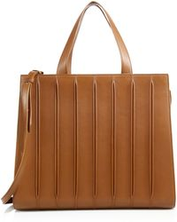 Max Mara Whitney Large Leather Tote brown - Lyst