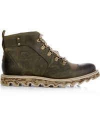 Sorel Mad Ii Leather and Canvas Ankle Boots - Lyst