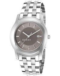 Gucci Women'S G Class Silver-Tone Steel Light Brown Dial - Lyst