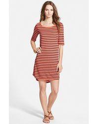 Splendid Stripe T-Shirt Dress - Lyst