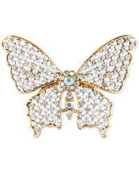Jones New York - Goldtone Crystal Butterfly Pin - Lyst