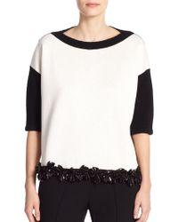 Marni Embellished Mixed-Media Sweater - Lyst