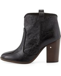 Laurence Dacade Pete Crumpled Patent Ankle Boot - Lyst