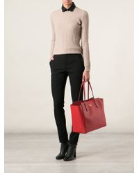 Gucci Red Shopping Tote - Lyst