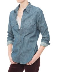 Citizens of Humanity Capucine Shirt blue - Lyst