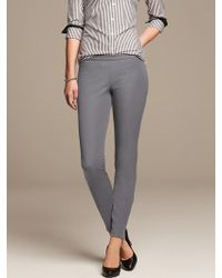 Banana Republic Sloan Fit Slim Ankle Zip Pant Silky Coal - Lyst