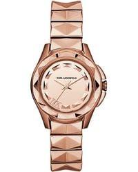 Karl Lagerfeld Karl 7 Rose Gold-Tone Watch pink - Lyst
