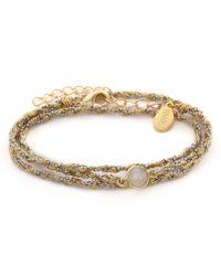 Sogoli - Stone Wrap Chain Bracelet - Silver/Gold/Moonstone - Lyst