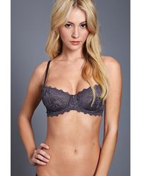 Forever 21 Unlined Floral Lace Bra - Lyst