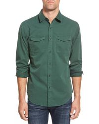 Eddie Bauer - 'stonebridge - Ilaria Urbinati Collection' Trim Fit Military Sport Shirt - Lyst