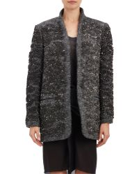 Isabel Marant Sequined Bouclé Ta Jacket gray - Lyst