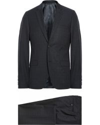 Calvin Klein Navy Crosby Wool, Cotton And Silk-Blend Suit - Lyst