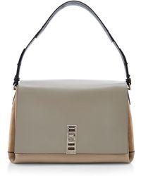 Proenza Schouler Elliot Tri-tone Leather Shoulder Bag - Lyst