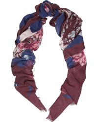 We Are Owls Forest Printed Cashmere Scarf - Lyst