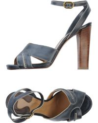 Chloé Gray Sandals - Lyst