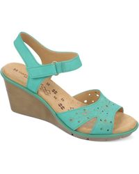 Naturalizer Episode Wedge Sandals - Lyst