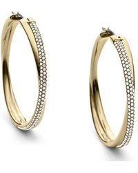 Michael Kors Pavé Criss-Cross Hoop Earrings gold - Lyst